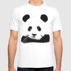 Red Panda Mens Fitted Tee MEDIUM White
