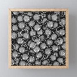 Kettlebells B&W Framed Mini Art Print