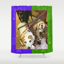 Roz, Buster, Peppy and Jamie Shower Curtain