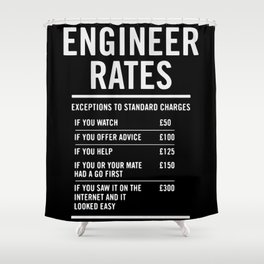 Engineer Labour Rates Shower Curtain