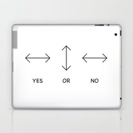 Yes or No Quetsions Laptop & iPad Skin