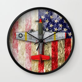 North American Mustang P-51B Wall Clock