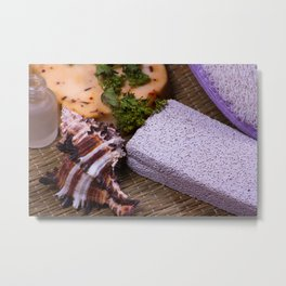 Bath accessories. Metal Print