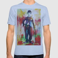 Charlie Chaplin Tri-Blue Mens Fitted Tee SMALL