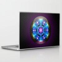 fibonacci Laptop & iPad Skins featuring Fibonacci Flower Mandala by Mushroom Dreams
