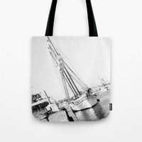 sailor Tote Bags featuring Sailor by Miss chOc-l4te