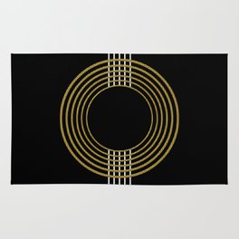 GUITAR IN ABSTRACT (geometric art deco) Rug