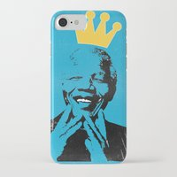 mandela iPhone & iPod Cases featuring King Mandela by César Ovalle