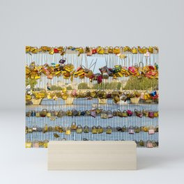 Love padlocks - Paris, France Mini Art Print