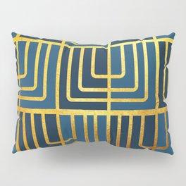 Art Deco Rag Doll In Blue Pillow Sham