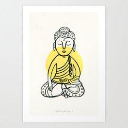 Yellow Buddha Art Print