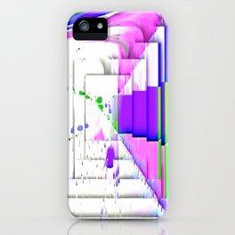 Paint splash drip geometric abstract iPhone Case