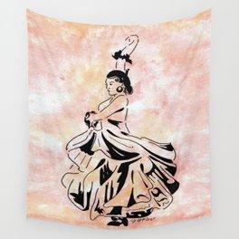 The Flamenco of Kali Sara (flamenco dancer) Wall Tapestry