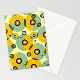 Turntables (Yellow) Stationery Cards