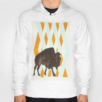 buffalo Hoodies featuring Buffalo by Wood Grian & Grits