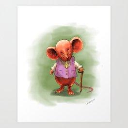 Wealthy Mouse Art Print