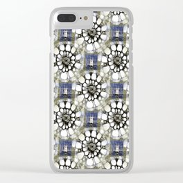 Scribbled Pattern Clear iPhone Case