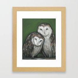 Barn Owls Framed Art Print