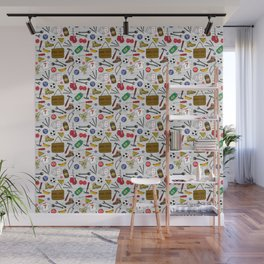 Man Cave Beer Den Tool Shed Pattern Wall Mural