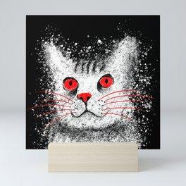 Red Eyed Cat - Australian Mist Mini Art Print