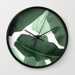 Green Banana Leaf Wall Clock