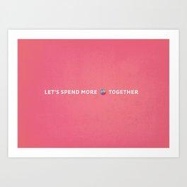 Time Together Art Print