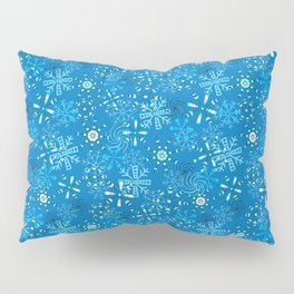 Snow Flurries in Blue Pillow Sham