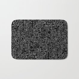 Sketched Numbers Bath Mat