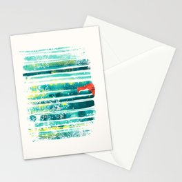 Fox in quiet forest Stationery Cards