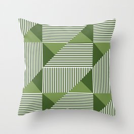 Green Geometric Shapes Throw Pillow