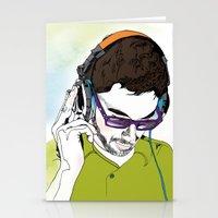 dj Stationery Cards featuring DJ  by Vivian Gerber