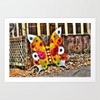 Iron Butterfly Art Print