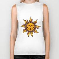 sublime Biker Tanks featuring Sublime Sun #2 Psychedelic Character Design Logo by CAP Artwork & Design