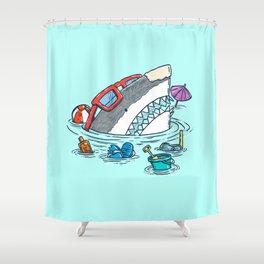 Beach Party Shark Shower Curtain