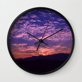 SW Mountain Sunrise - II Wall Clock
