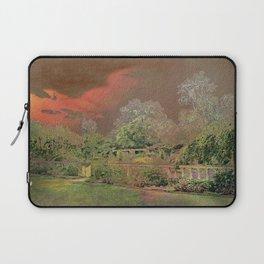 English Garden Sunset Laptop Sleeve