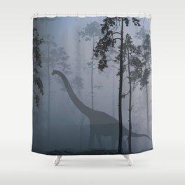 Dinosaur by Moonlight Shower Curtain