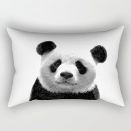 Black and white panda portrait Rectangular Pillow