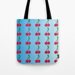 cherries pattern logo Tote Bag