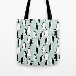 Penguins go with the floe Tote Bag