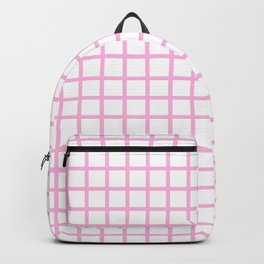 Grid (Pink & White Pattern) Backpack