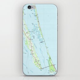 Northern Outer Banks North Carolina Map (1985) iPhone Skin