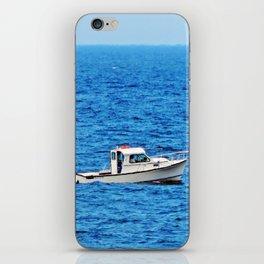 Little Boat on a Big Sea iPhone Skin