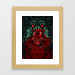A wolf in the shape of a girl Framed Art Print
