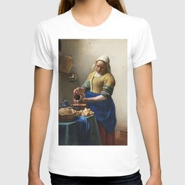 The Milkmaid (ca 1660) by Johannes Vermeer T-shirt