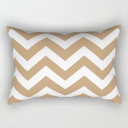 Fallow - brown - Zigzag Chevron Pattern Rectangular Pillow