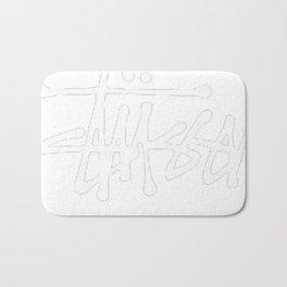 Stussy Logo Black Bath Mat