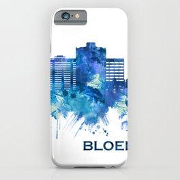 Bloemfontein South Africa Skyline Blue iPhone Case