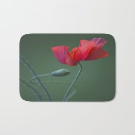 Red Poppy Dance  Bath Mat