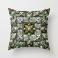 bands Throw Pillows featuring Structural Bands of Color   by Phil Perkins